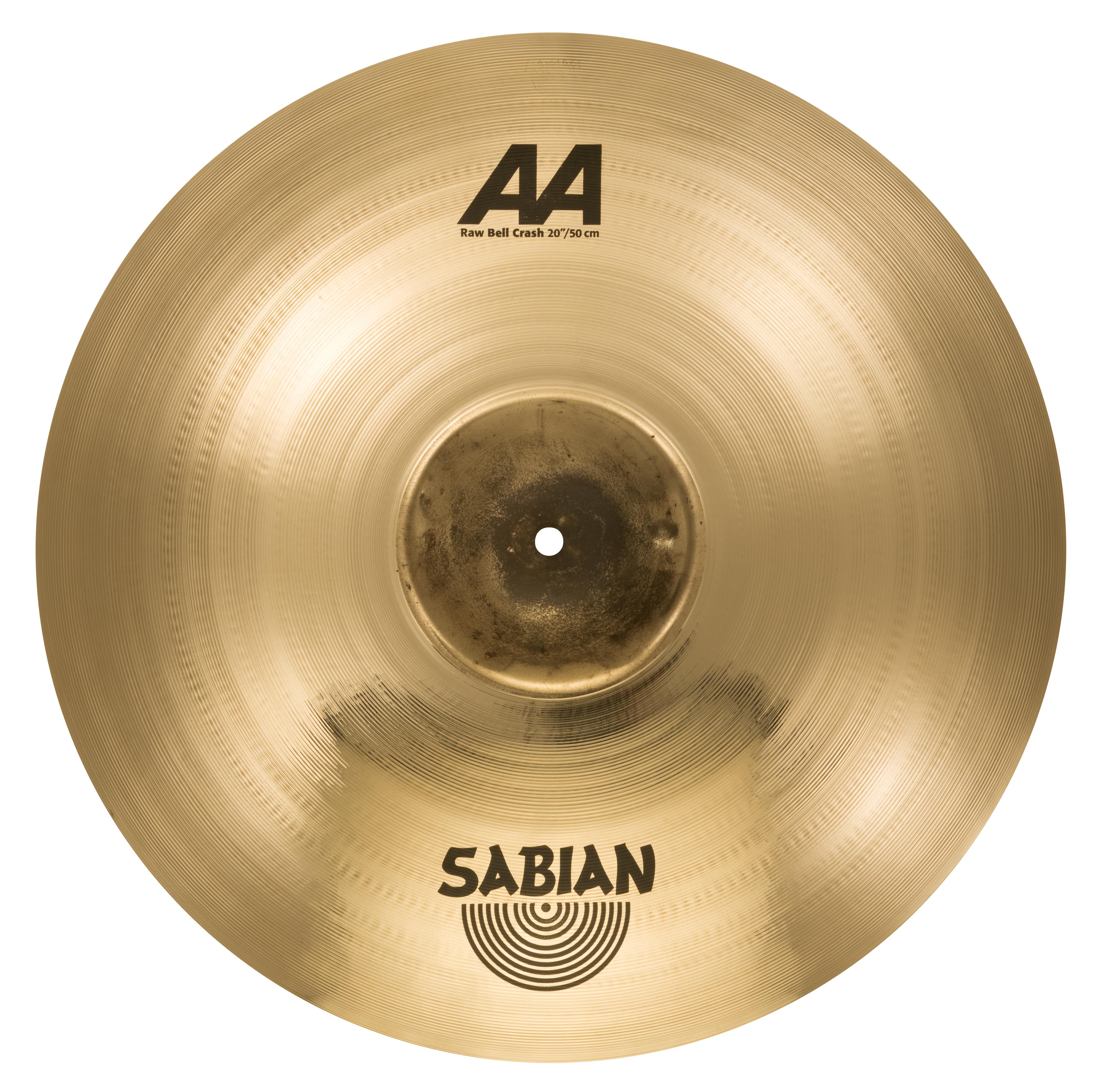 "SABIAN 20"" AA Raw Bell Crash Brilliant Finish Cymbal 2200772B"